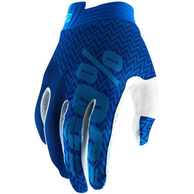 100% iTrack Gloves Youths Blue/Navy
